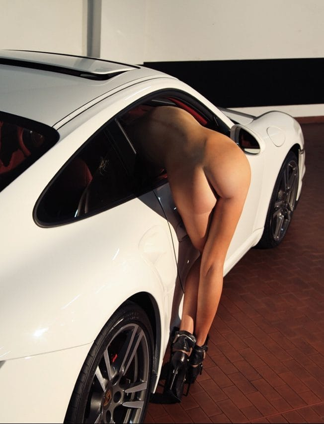Porsche with naked girl