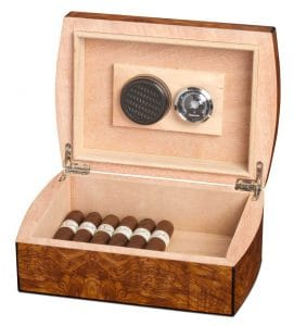 Matte Walnut Cigar Humidor Box